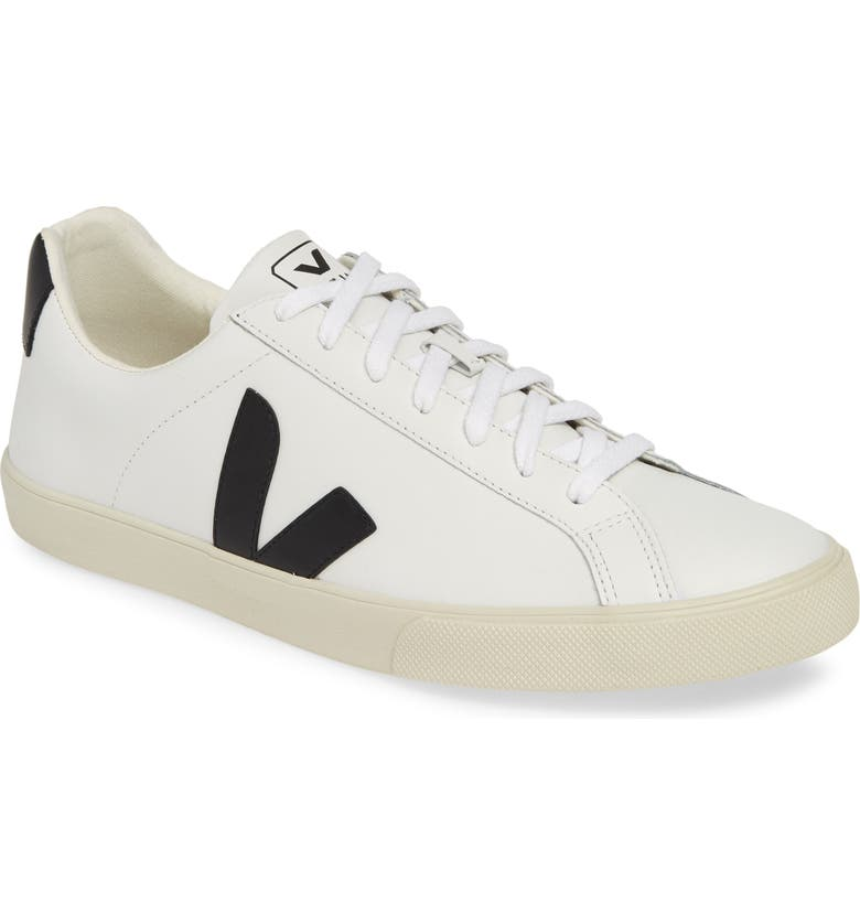 VEJA Esplar Sneaker, Main, color, EXTRA WHITE/ BLACK LEATHER