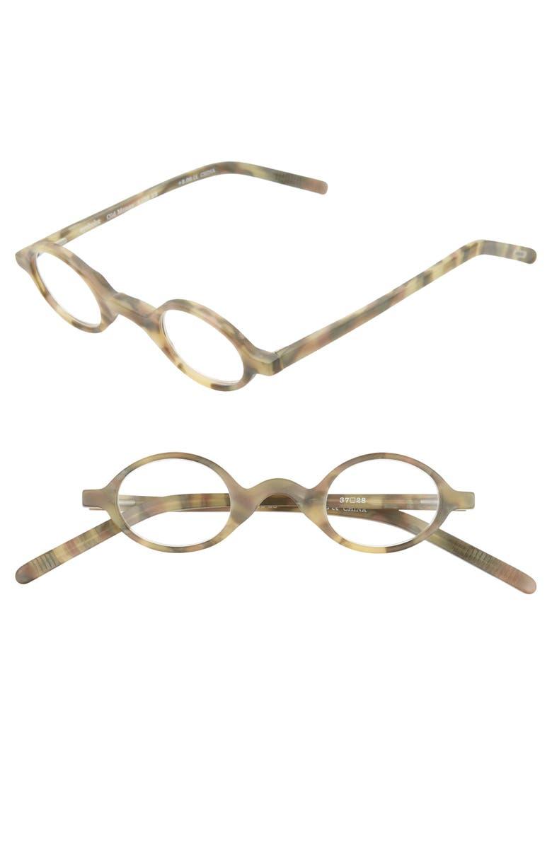 EYEBOBS Old Money 35mm Reading Glasses, Main, color, GREY HORN