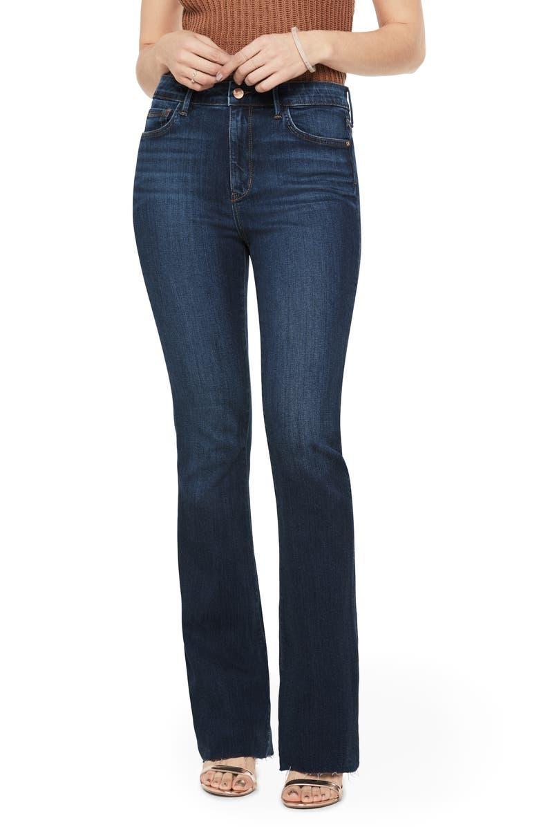 SAM EDELMAN The Stiletto Raw Hem High Waist Bootcut Jeans, Main, color, JACOB