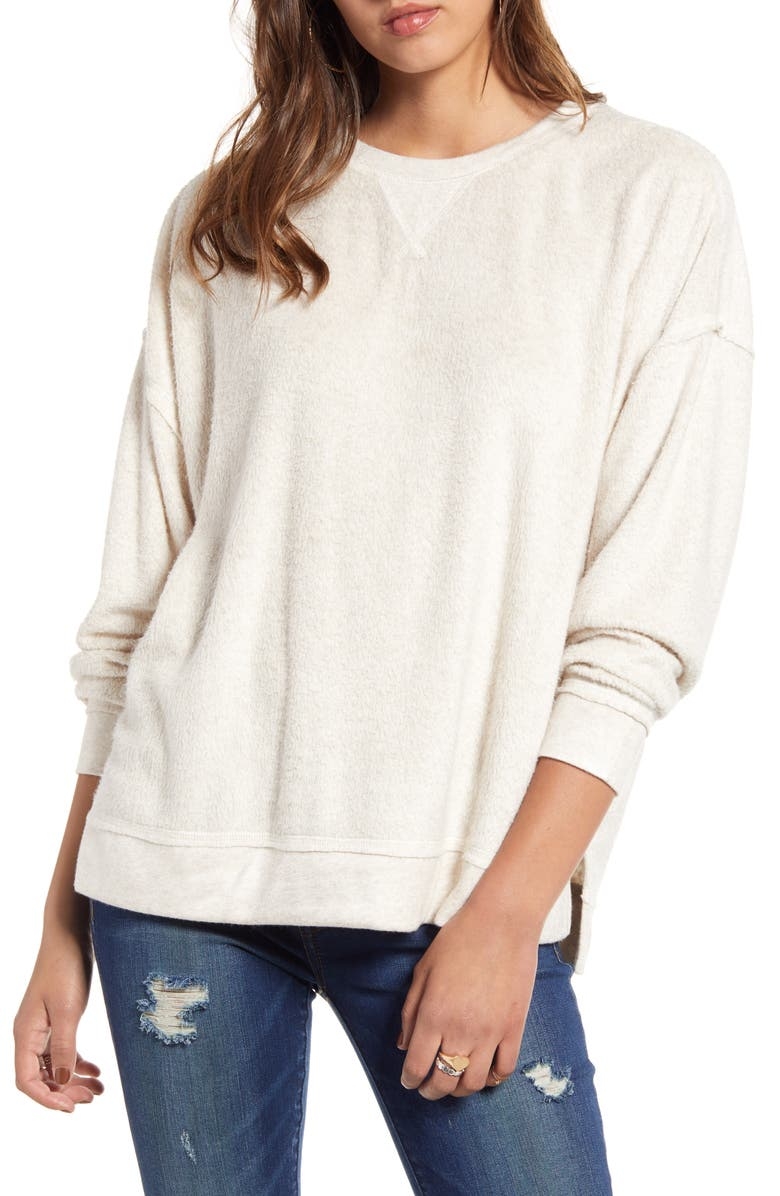 BILLABONG Three Day Weekend Fleece Sweatshirt, Main, color, WHISPER HEATHER