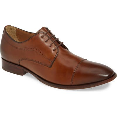 Johnston & Murphy Mcclain Cap Toe Derby- Brown