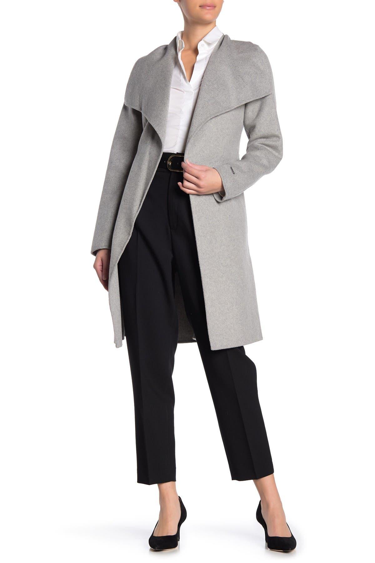 Image of Tahari Ellie Wool Blend Wrap Coat