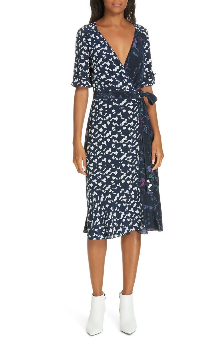 Tanya Taylor Luisa Print Silk Wrap Dress (Regular & Plus Size ...