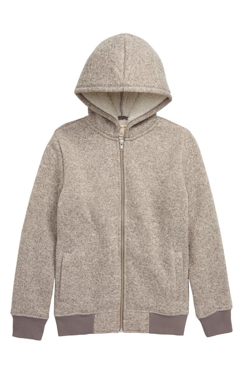 TUCKER + TATE Fleece Lined Hooded Jacket, Main, color, GREY MEDIUM HEATHER