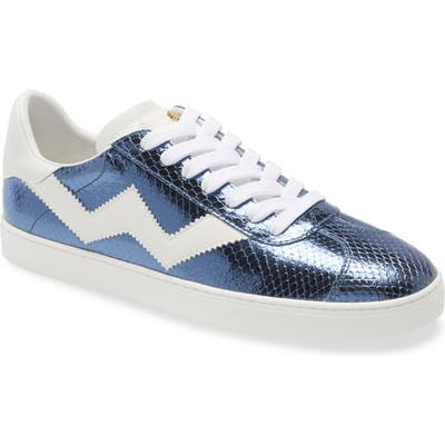 Stuart Weitzman Daryl Low Top Sneaker- Blue