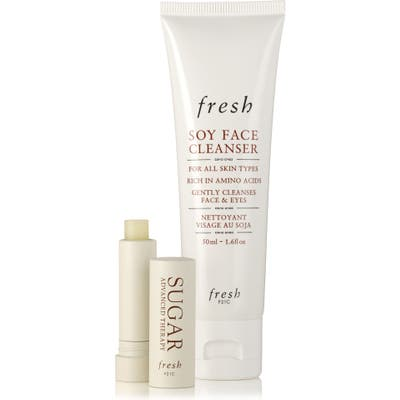 Fresh Travel Size Soy Face Cleanser & Sugar Lip Treatment Set