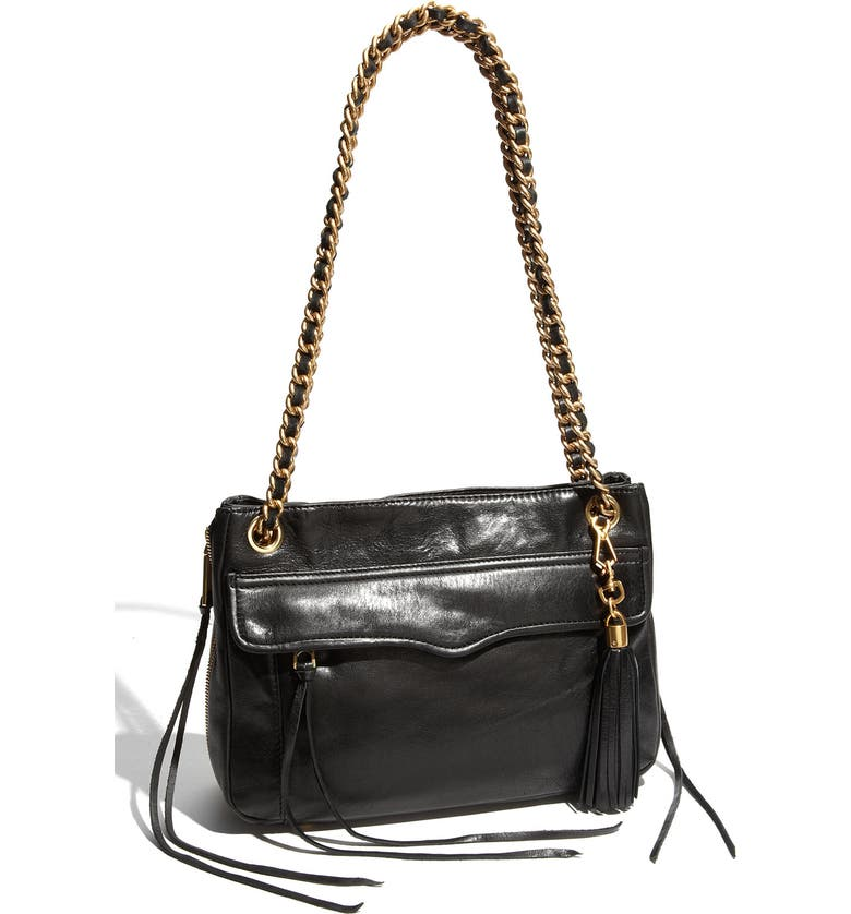Swing Double Chain Leather Shoulder Bag