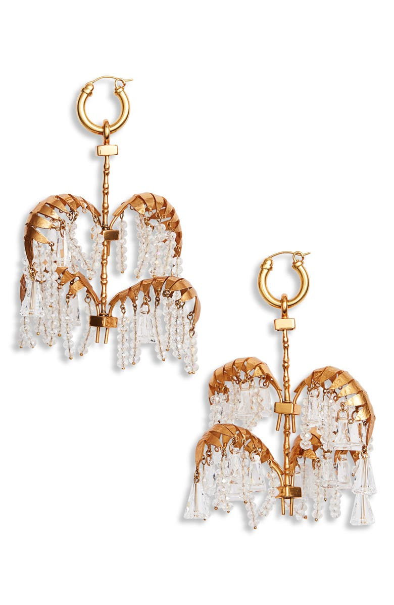 ELLERY Genealogy XL Palm Earrings, Main, color, GOLD