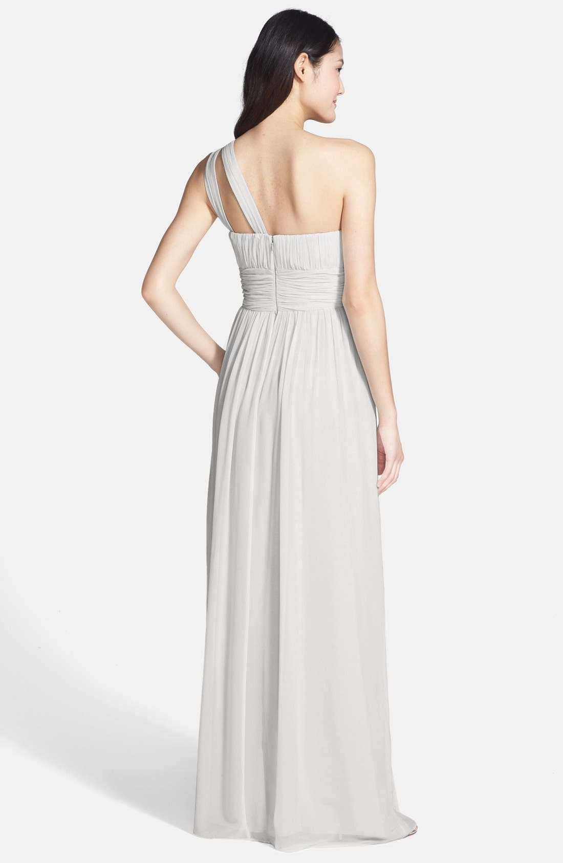 ,                             'Rachel' Ruched One-Shoulder Chiffon Gown,                             Alternate thumbnail 20, color,                             030