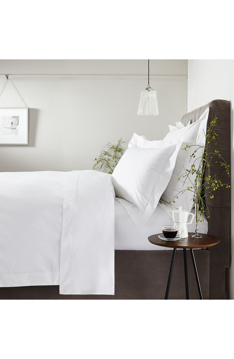 THE WHITE COMPANY Luxury Savoy Duvet Cover, Main, color, WHITE/ MINK