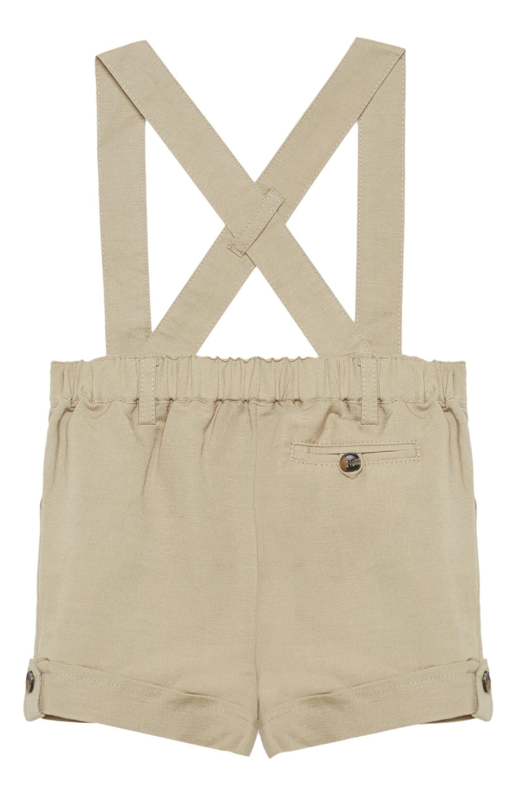 887f26b1506df Bardot Junior Linen Blend Overalls (Baby) | Nordstrom