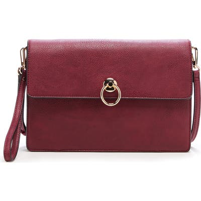 Sole Society Faux Leather Clutch - Red