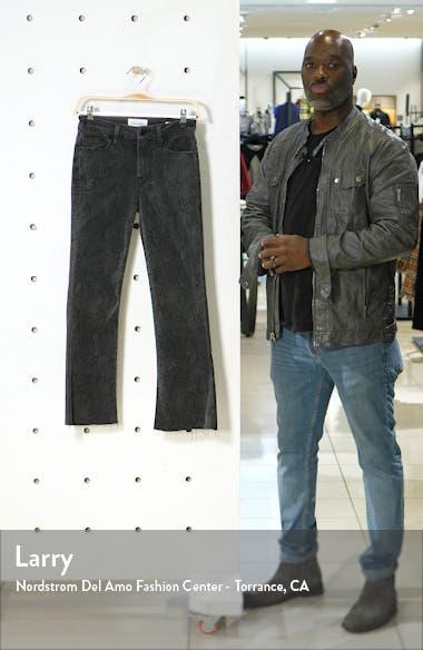 Le Crop Mini Boot High Waist Raw Edge Jeans, sales video thumbnail