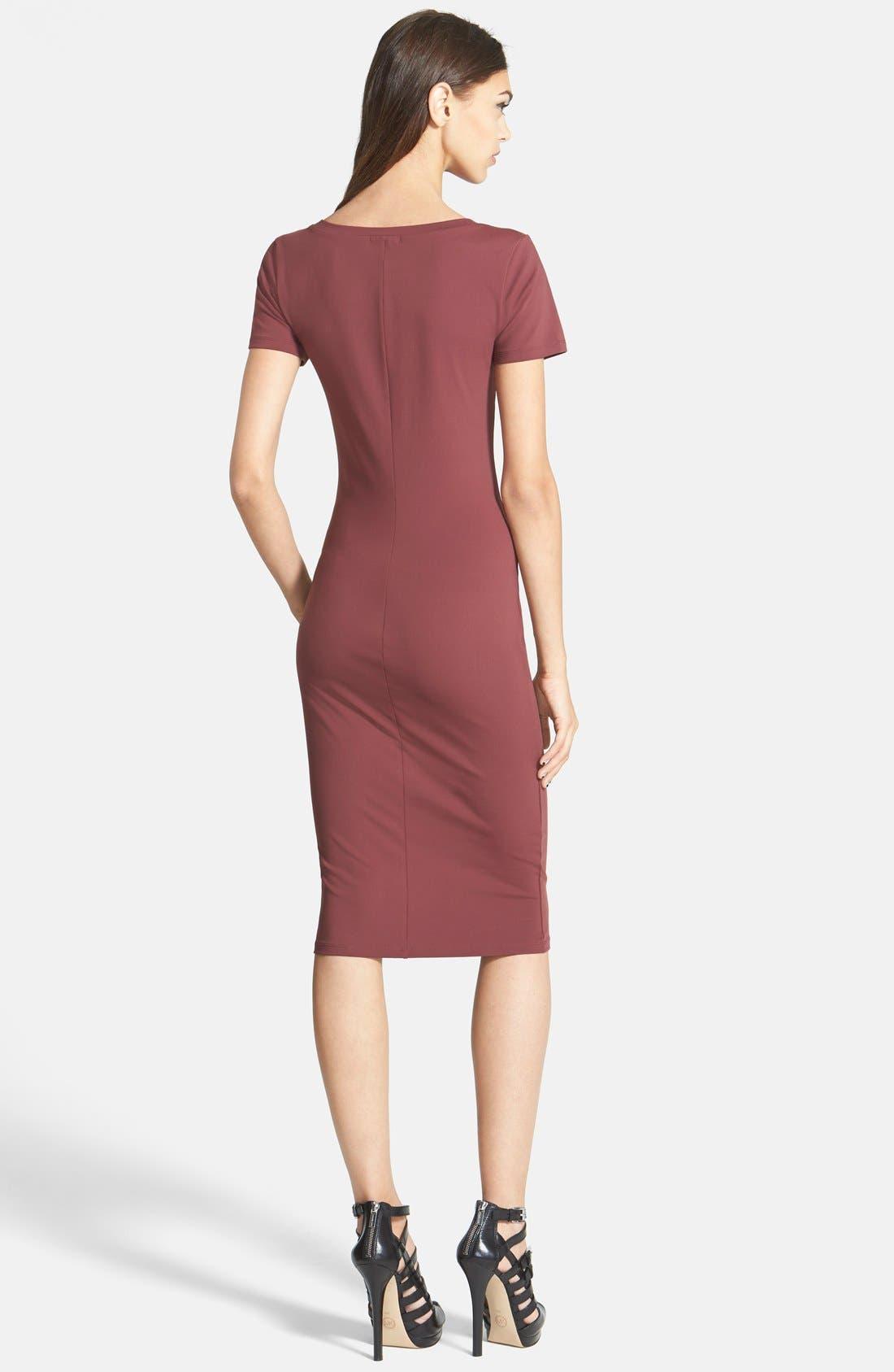 ,                             V-Neck Body-Con Dress,                             Alternate thumbnail 28, color,                             603