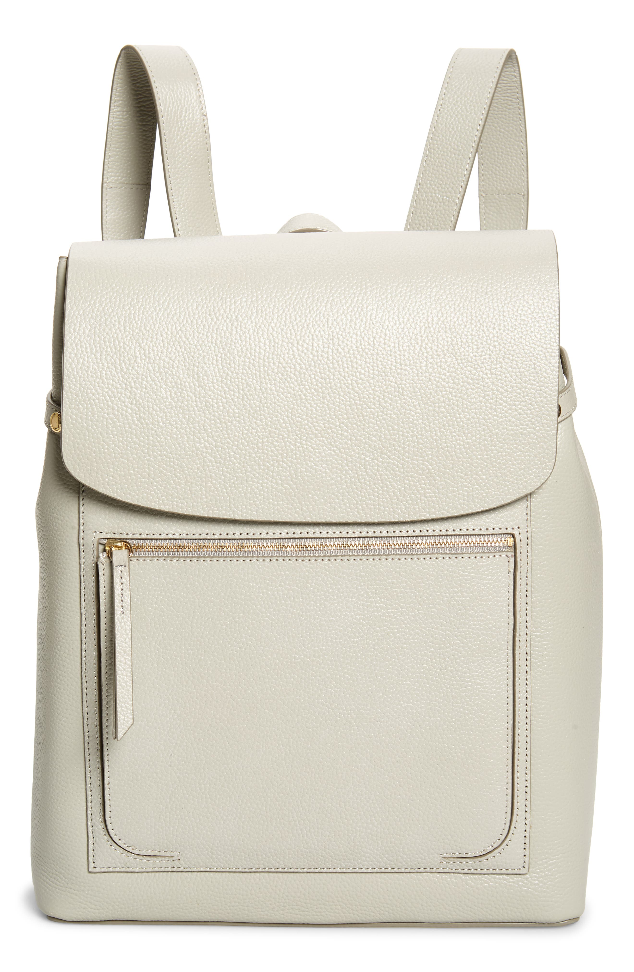 Richly grained calfskin leather defines a chic backpack in a contemporary design with adjustable shoulder straps and exposed zipper hardware. Style Name: Nordstrom Ballard Calfskin Leather Backpack. Style Number: 6015824. Available in stores.