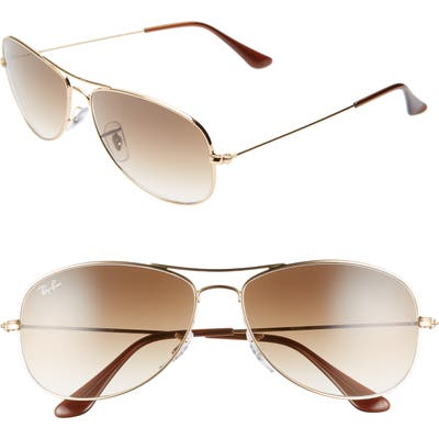 Ray-Ban New Classic Aviator 5m Sunglasses - Gold/ Brown Gradient