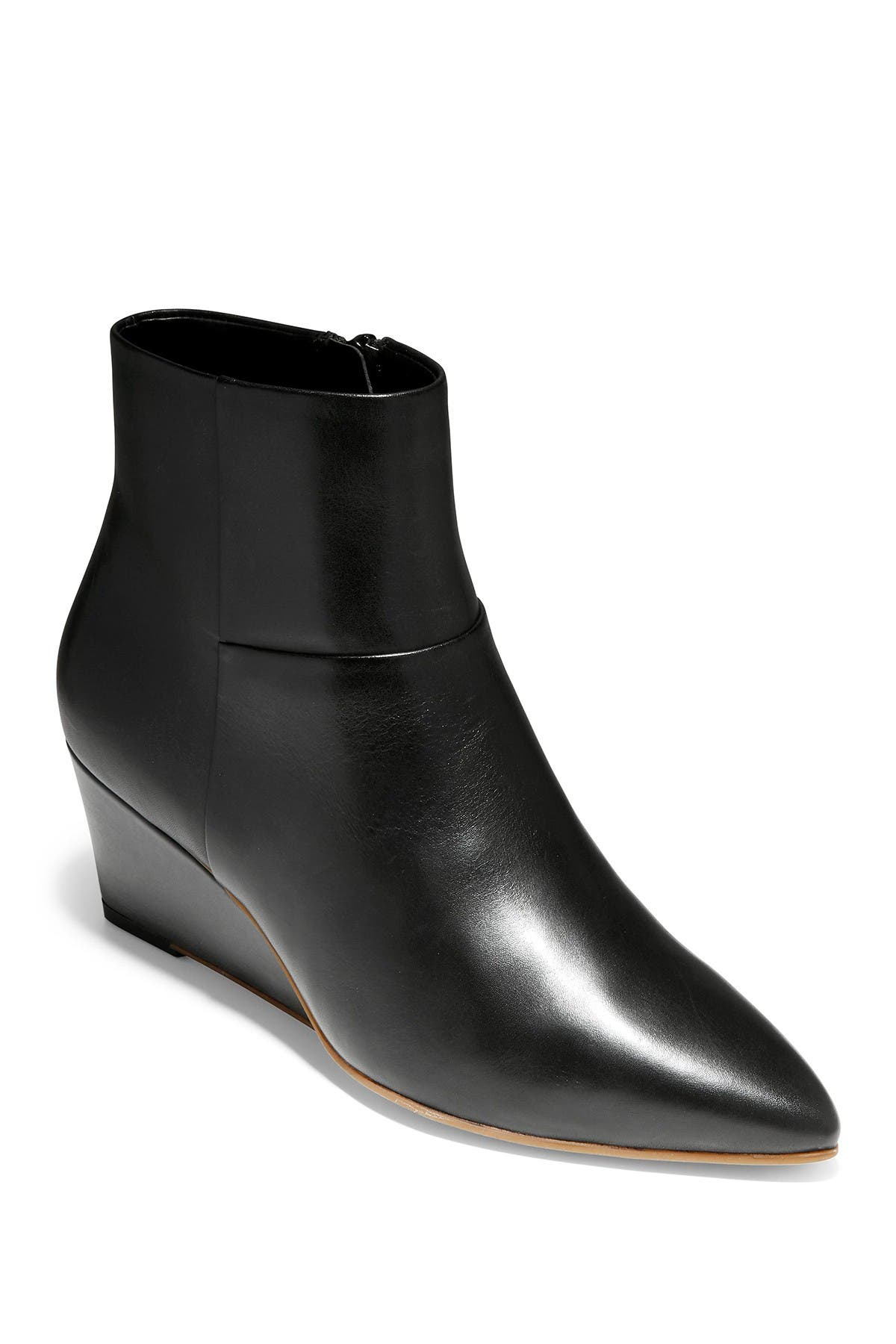 Image of Cole Haan Eneida Leather Wedge Bootie