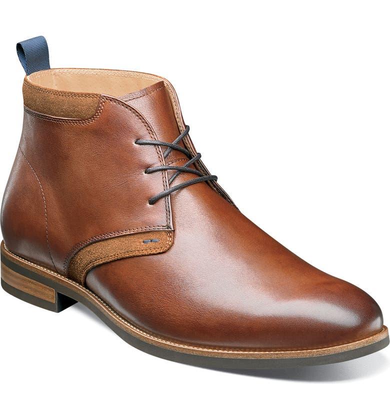 FLORSHEIM Uptown Chukka Boot, Main, color, COGNAC LEATHER