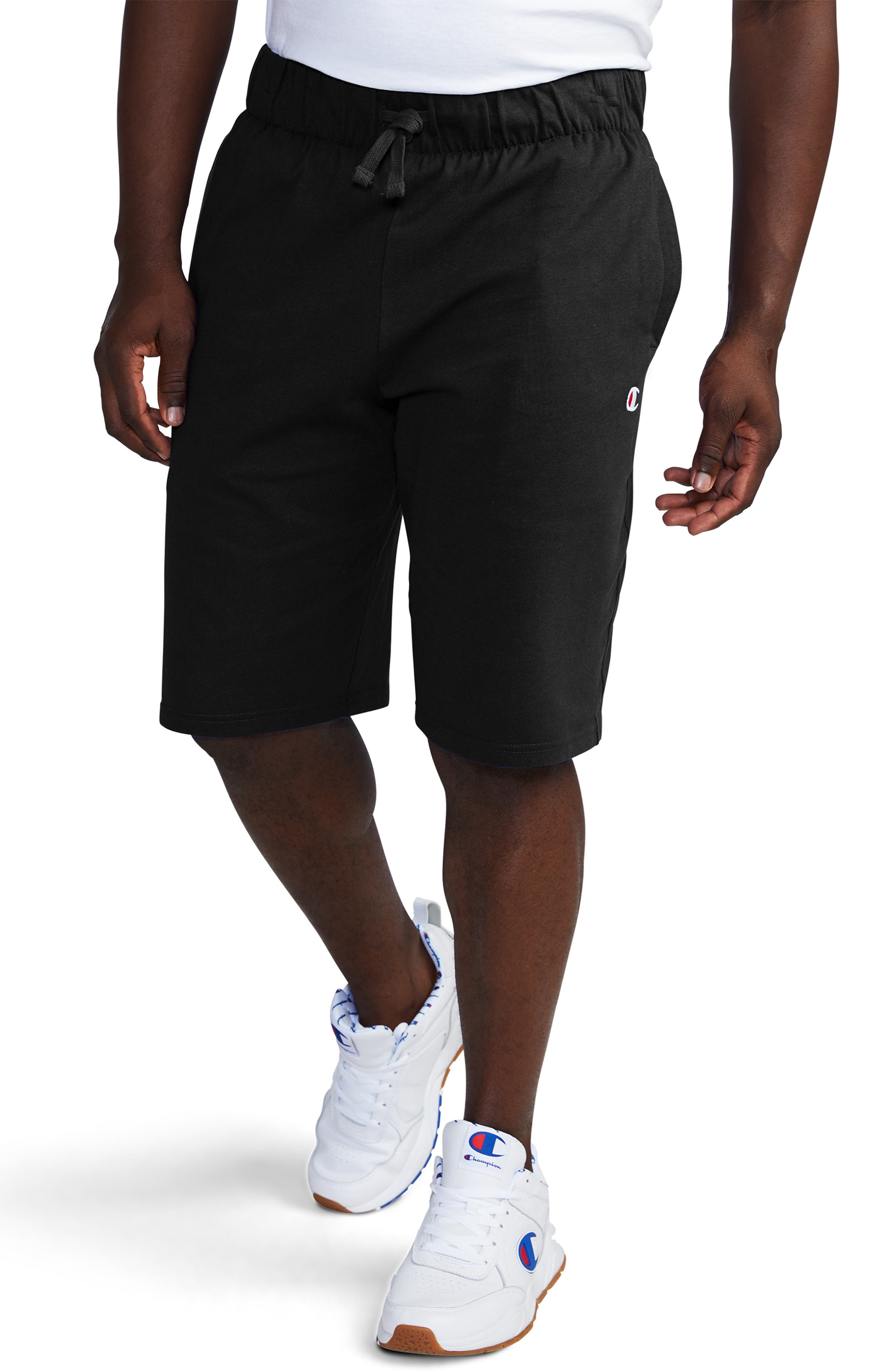 Life<sup>®</sup> Jersey Jam Shorts, Main, color, BLACK