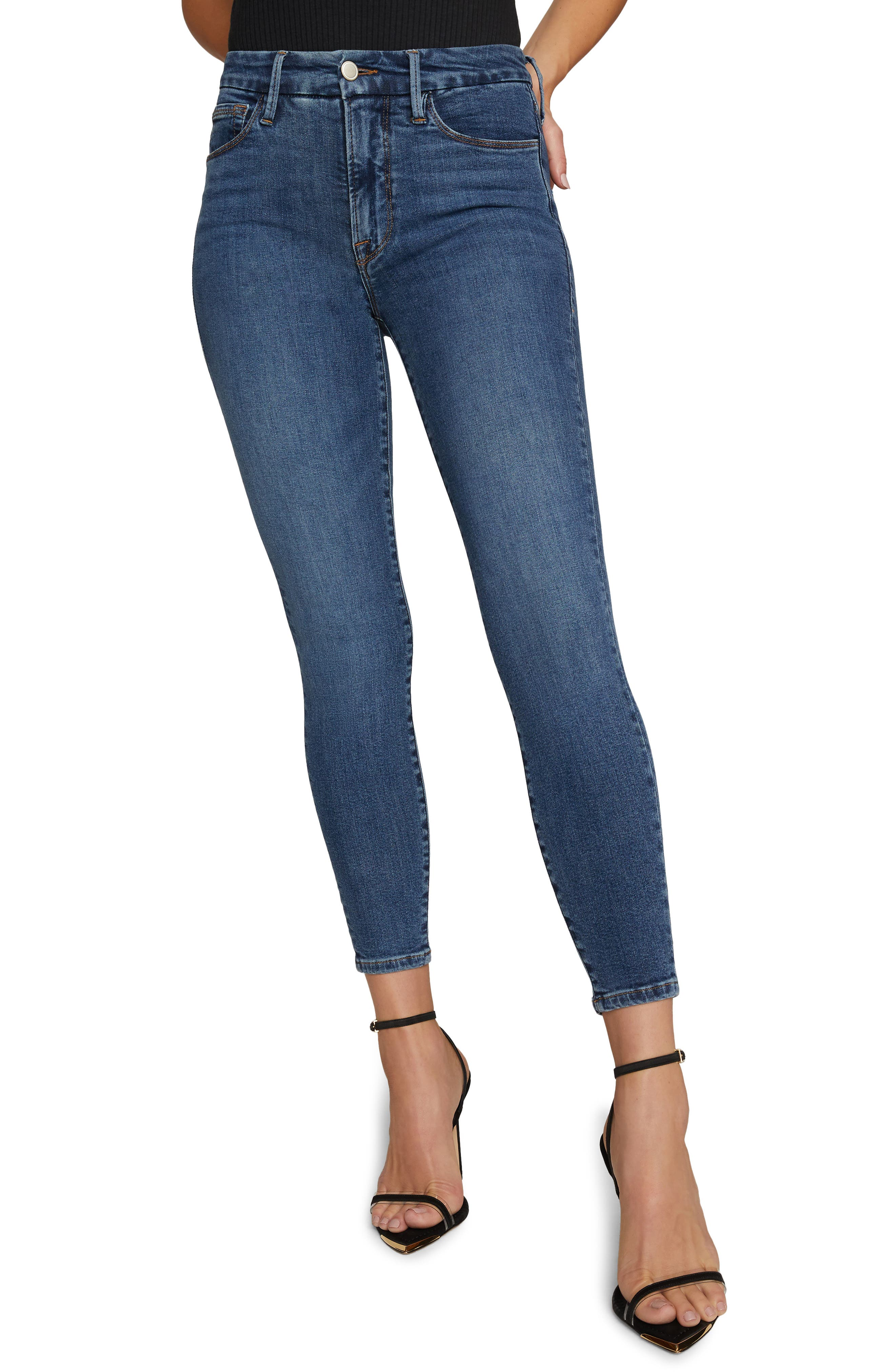 Women's Good American Extreme V High Waist Ankle Skinny Jeans