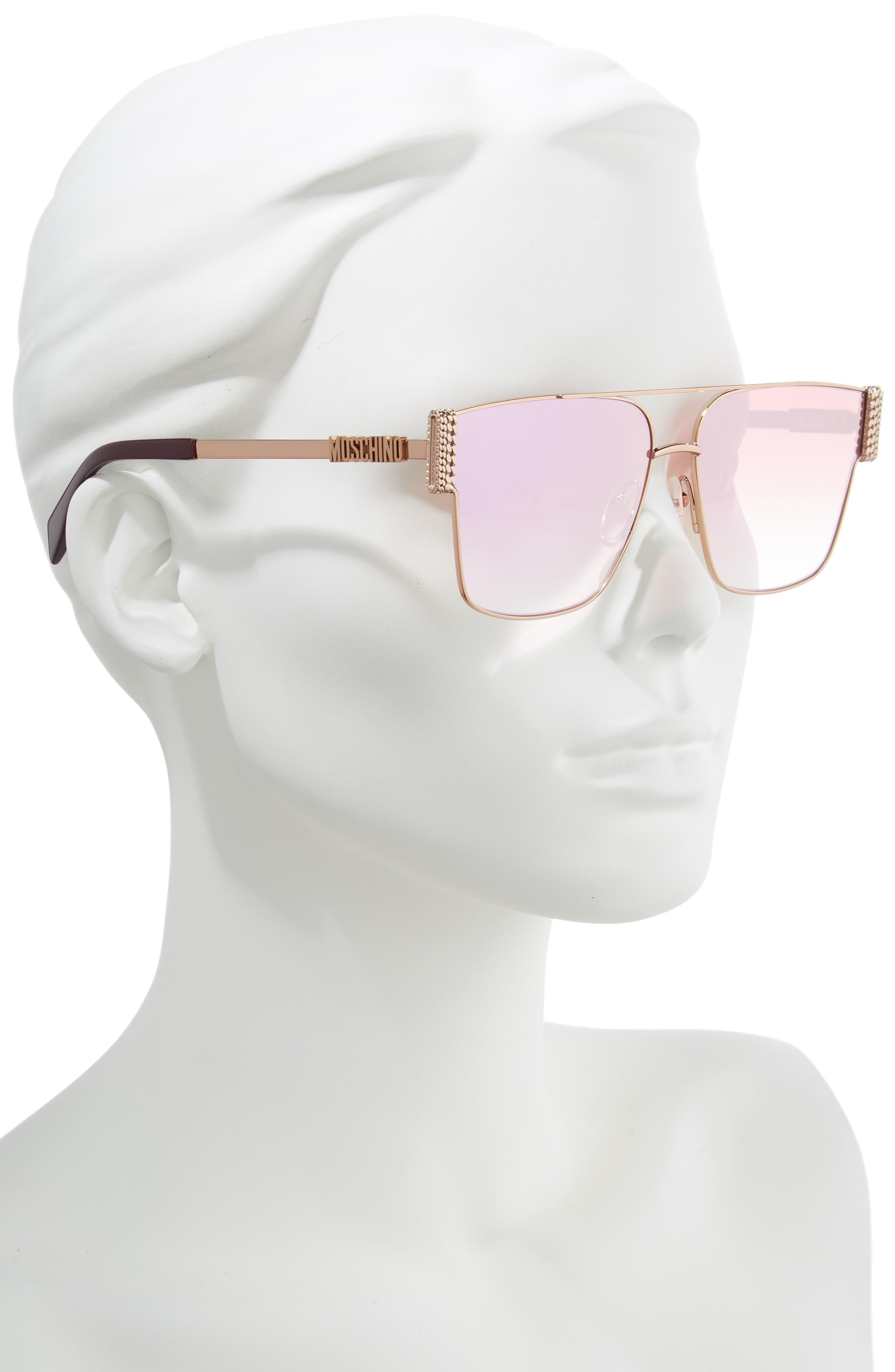 ,                             60mm Polarized Aviator Sunglasses,                             Alternate thumbnail 2, color,                             GOLD COPPER