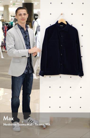 Slim Fit Button-Up Corduroy Shirt Jacket, sales video thumbnail