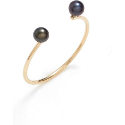 Poppy Finch Skinny Pearl Open Ring