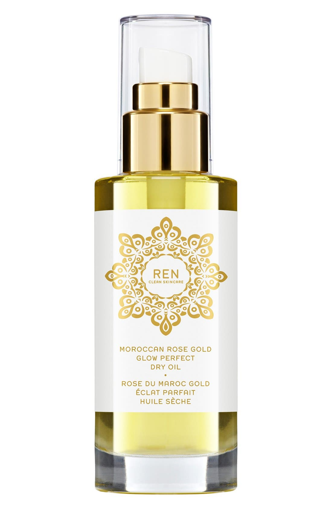 ,                             SPACE.NK.apothecary REN Moroccan Rose Gold Glow Perfect Dry Oil,                             Alternate thumbnail 4, color,                             NO COLOR