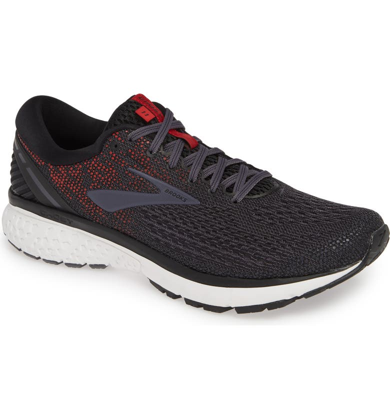 BROOKS Ghost 11 Running Shoe, Main, color, BLACK/ GRAYSTONE/ CHERRY