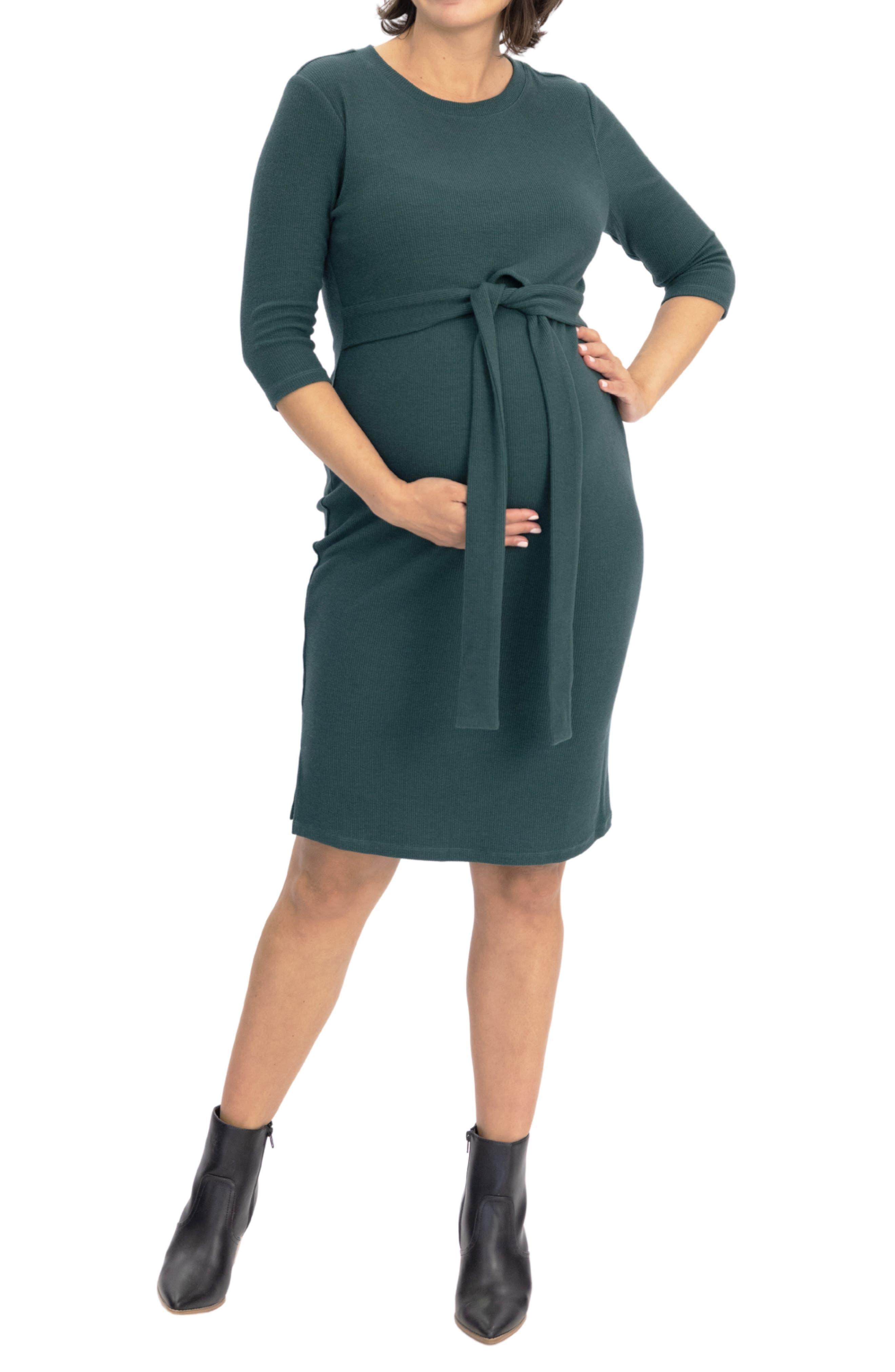 Tie Waist Maternity/nursing Dress