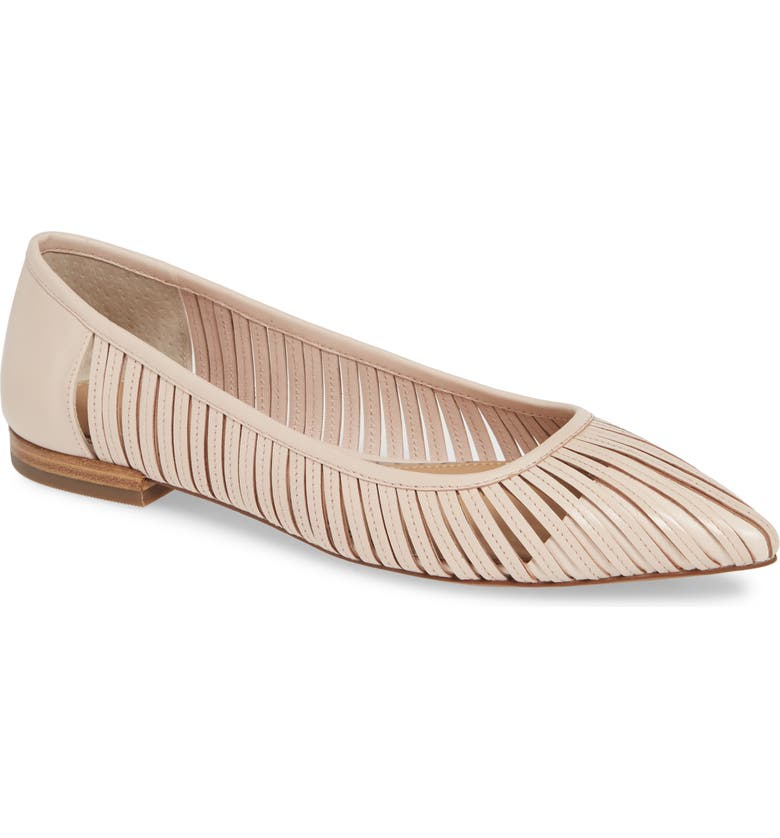 LINEA PAOLO Belinda Flat, Main, color, PALE PINK LEATHER