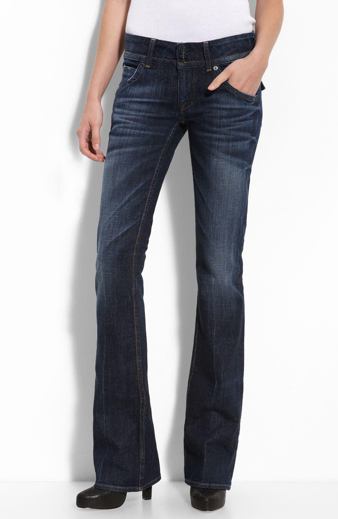 ,                             Signature Flap Pocket Bootcut Jeans,                             Main thumbnail 52, color,                             460