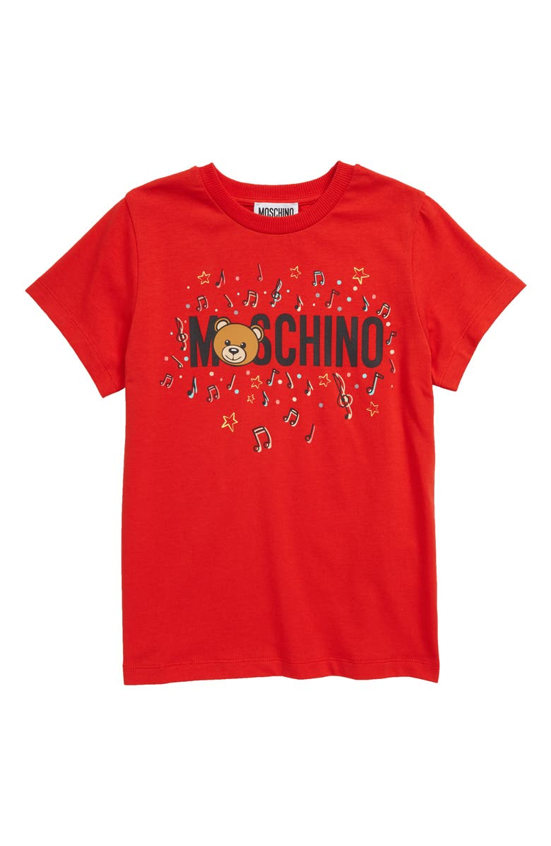 Moschino Musical Toy Bear Stretch Cotton Tee Little Kid Big Kid