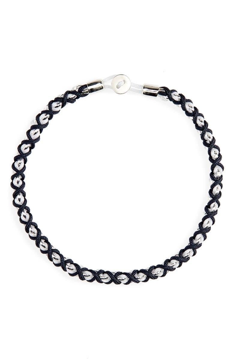 MIANSAI Nexus Chain Bracelet, Main, color, NAVY/ WHITE