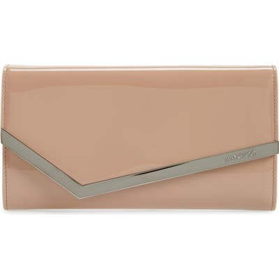 Jimmy Choo Emmie Patent Clutch - Pink