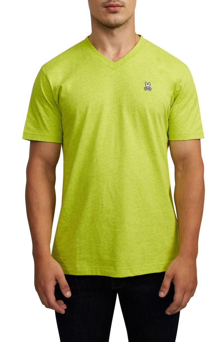 PSYCHO BUNNY Classic V-Neck T-Shirt, Main, color, 377