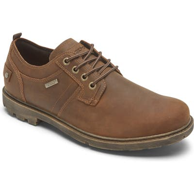 Rockport Rugged Bucks Ii Waterproof Plain Toe Derby, Brown