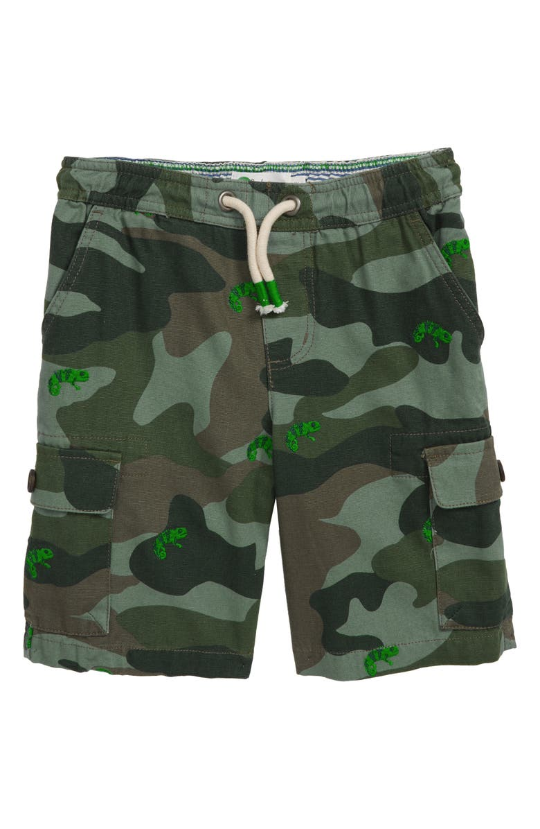MINI BODEN Pull On Cargo Shorts, Main, color, CHAMELEON CAMO KHAKI