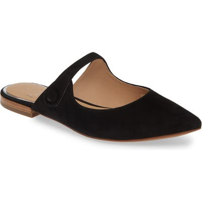 Linea Paolo Darling Open Top Mule, Black