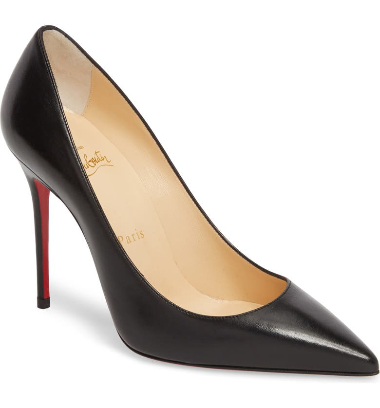 CHRISTIAN LOUBOUTIN Décolleté 554 Pointy Toe Pump, Main, color, BLACK