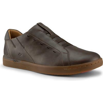 Kizik New York Gum Bottom Slip-On Sneaker- Brown