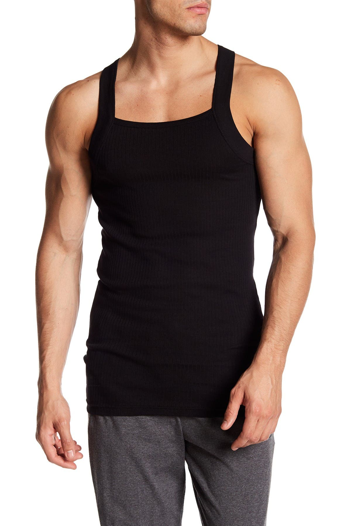 Image of 2(X)IST Square Cut Tank - Pack of 2