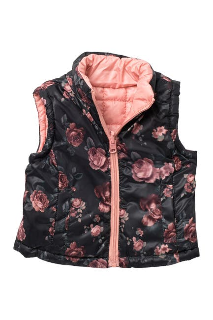 Image of Urban Republic Floral Quilted Reversible Puffer Vest