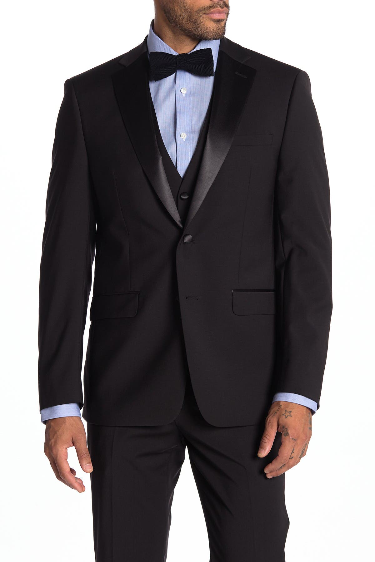 Image of Calvin Klein Main Notch Collar Slim Fit Suit Separate Jacket