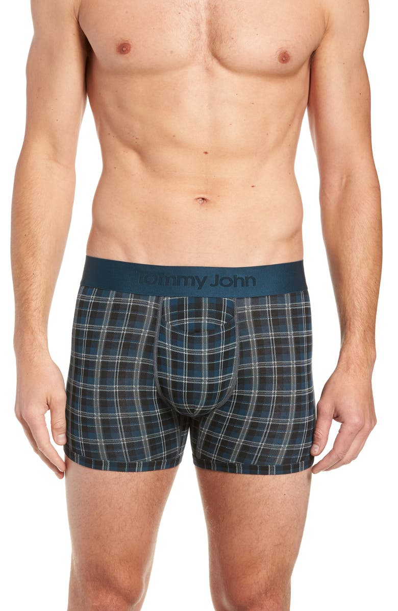 TOMMY JOHN Second Skin Plaid Trunks, Main, color, 021