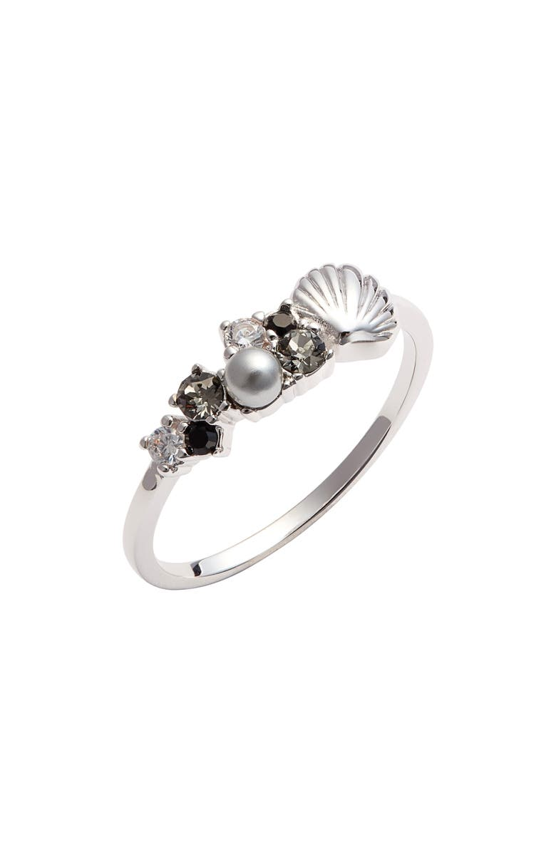 OLIVIA BURTON Shell Bubble Ring, Main, color, SILVER