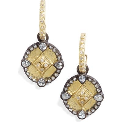 Armenta Old World Shield Diamond Drop Earrings