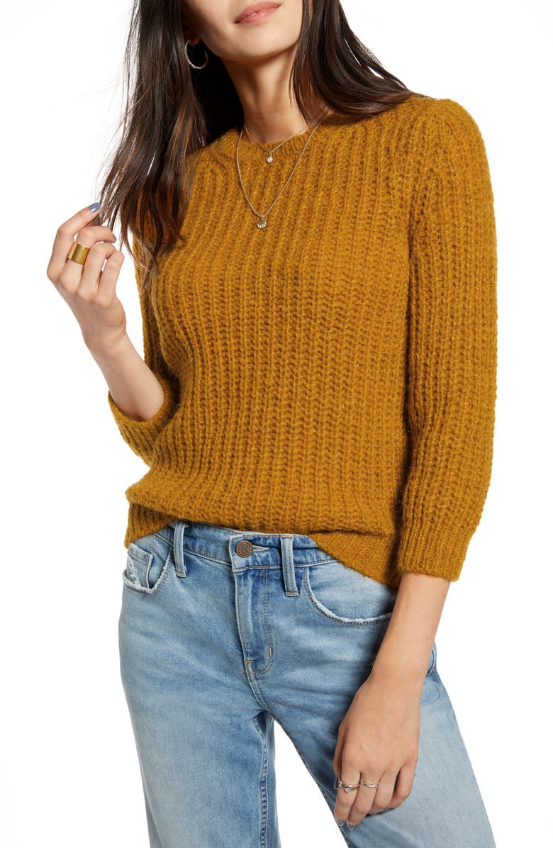 TREASURE & BOND Cropped Pullover, Main, color, 230