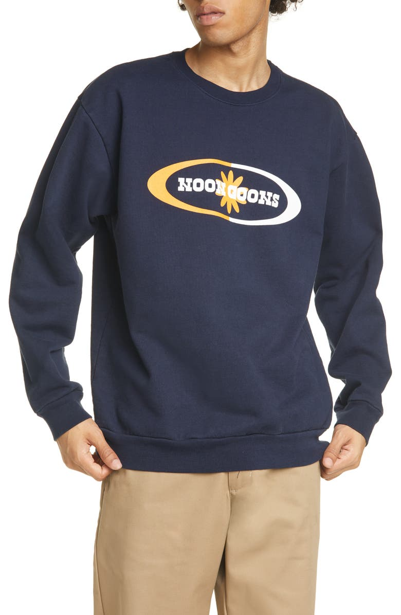 NOON GOONS Orb Crewneck Sweatshirt, Main, color, NAVY