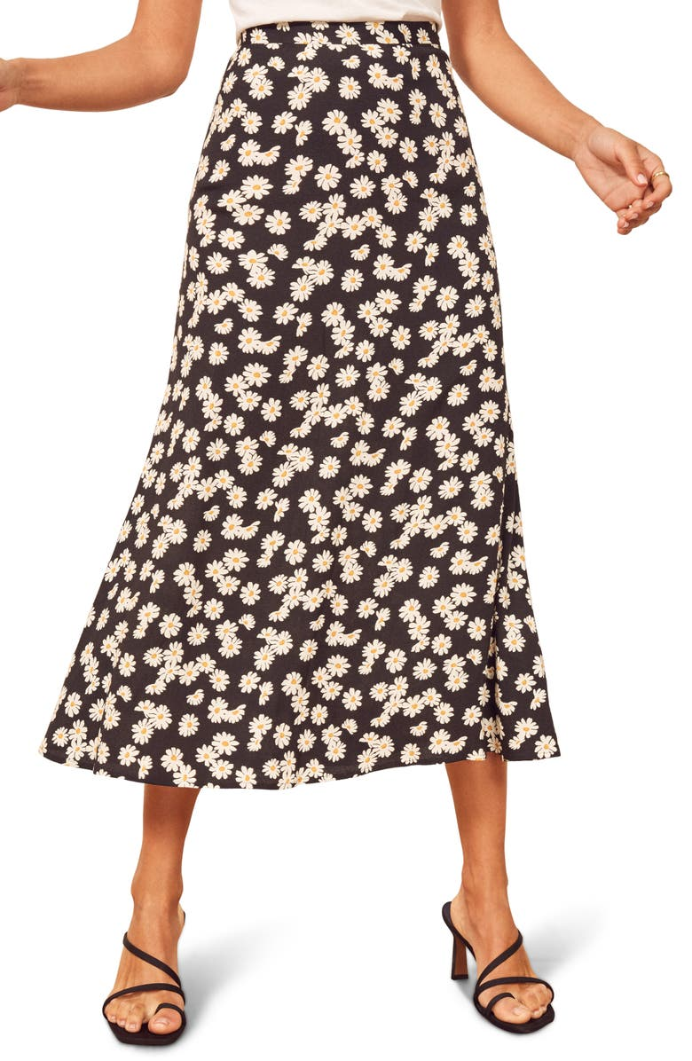 REFORMATION Bea Midi Skirt, Main, color, DAISY CHAIN
